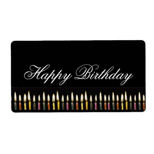 Happy Birthday Customisable Label