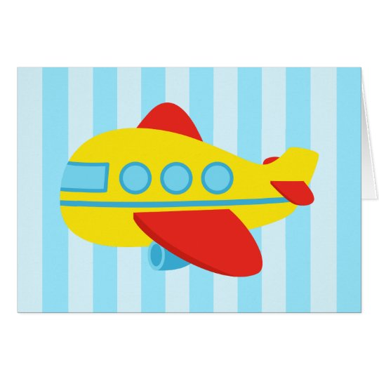 Happy Birthday, Cute and colourful aeroplane Card