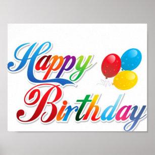 happy birthday cute posters prints zazzle uk