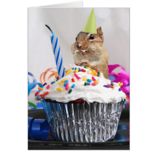 Happy Birthday Cute Little Chipmunk Card