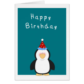 Happy Birthday Cute penguin Card