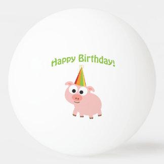 Happy Birthday! Cute Pig Ping Pong Ball