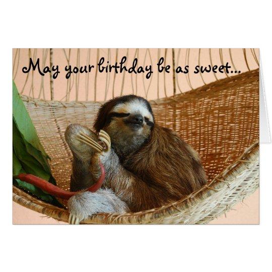 Happy Birthday Cute Sloth Card