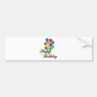 Happy Birthday - D4 Bumper Sticker