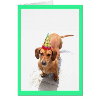 Happy Birthday Dachshund Greeting Card