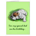 Happy Birthday Dad: Bulldog Greeting Cards