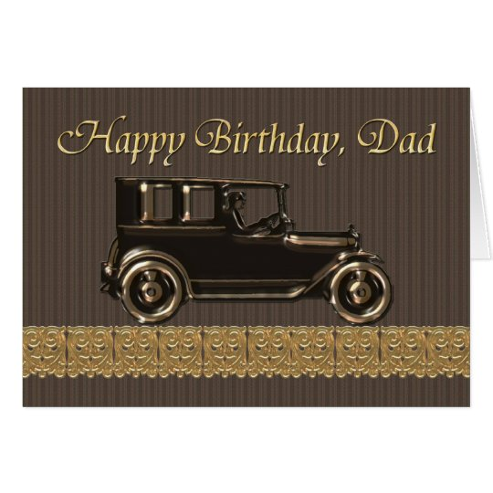 Happy Birthday Dad Classic car Card