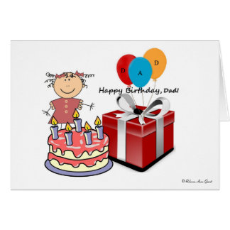 Happy Birthday Dad-From Daughter-Add Your Own Text Card