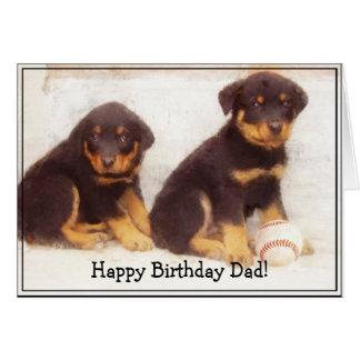Happy Birthday Dad Rottweiler greeting card