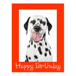 Happy Birthday Dalmatian Puppy Dog Post Card
