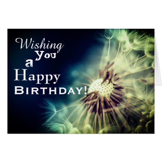 Happy Birthday Dandelion Greeting Card