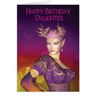 Happy Birthday Daughter Elf Card