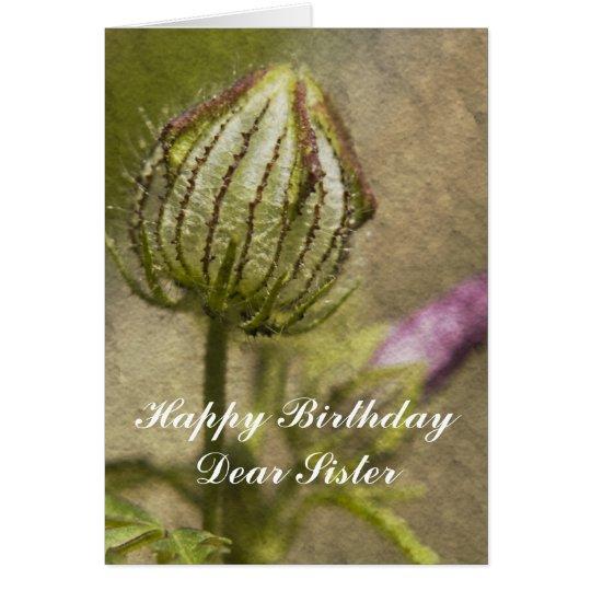Happy Birthday Dear Sister Card