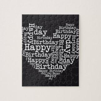 Happy birthday design puzzle