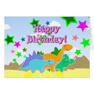 Happy Birthday Dinos Card
