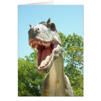 Happy Birthday Dinosaur Advice Card