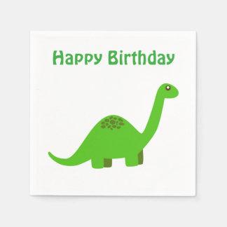 Happy Birthday Dinosaur Napkin Paper Napkin