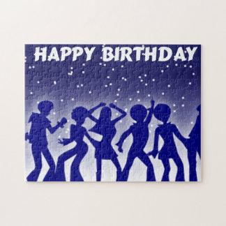 Happy Birthday Disco Dancers Jigsaw Puzzle