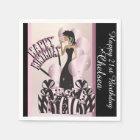 Happy Birthday Diva Girl | DIY Name | Pink Paper Napkin