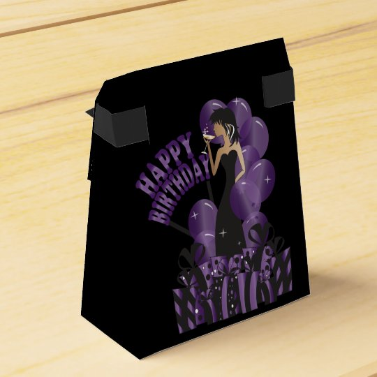 Happy Birthday Diva Girl Diy Name Purple Favour Box