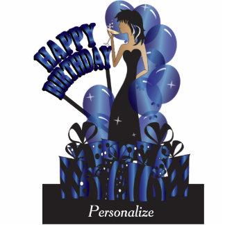 Happy Birthday Diva Girl   DIY Name   Sapphire Standing Photo Sculpture