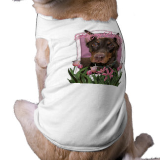 Happy Birthday - Doberman - Rocky Sleeveless Dog Shirt