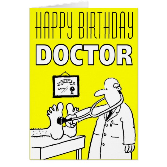 Happy Birthday Doctor Card to Personalise Inside