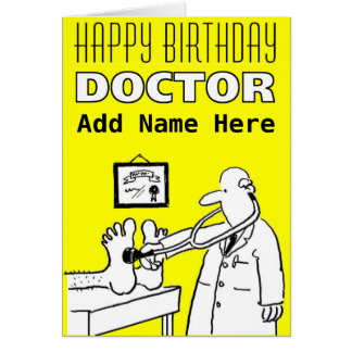 Happy Birthday Doctor - Personalise Front & Inside Card