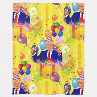 happy birthday donald trump blanket
