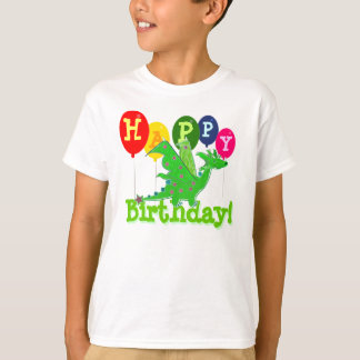 Happy Birthday Dragon Party Balloons Kids T-Shirt