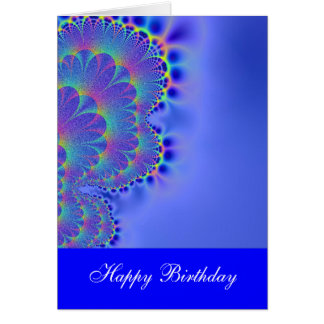 Happy Birthday Dreamy Blue Card