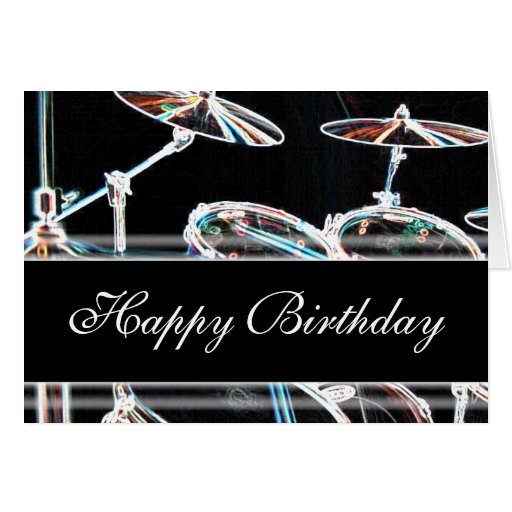 Happy Birthday - Drum Kit Card