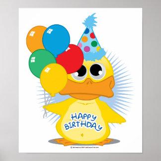 Happy Birthday Duck Posters