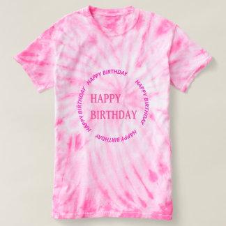 HAPPY BIRTHDAY EMBLEM   DIY replace PHOTO   TEXT T-Shirt