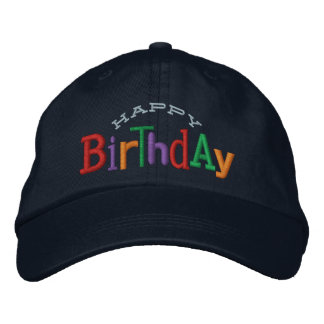 Happy Birthday Embroidery Hat Embroidered Baseball Caps