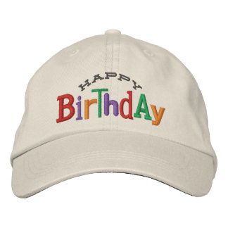 Happy Birthday Embroidery Hat Embroidered Baseball Cap