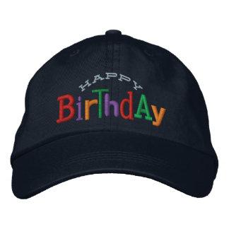 Happy Birthday Embroidery Hat Baseball Cap