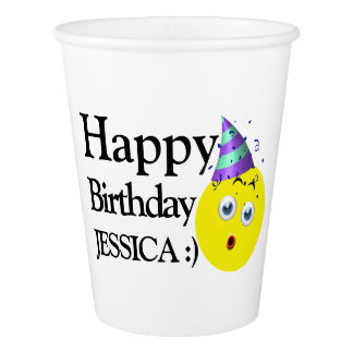 Happy Birthday Emoji Paper Cup