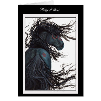 Happy Birthday Enjoy Horse Card by Bihrle