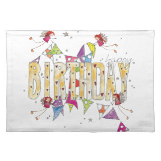 Happy Birthday - Fairies and Bunting Placemat