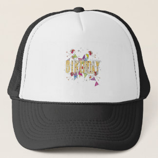 Happy Birthday - Fairies and Bunting Trucker Hat