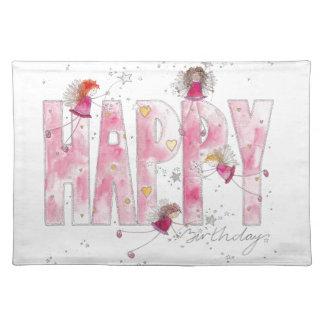 Happy Birthday Fairies Placemat
