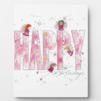 Happy Birthday Fairies Plaque