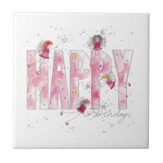 Happy Birthday Fairies Tile