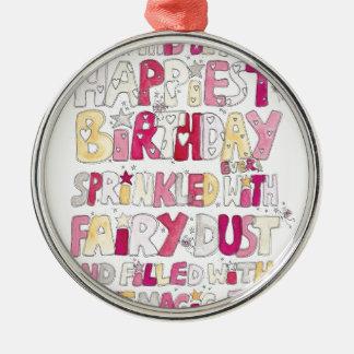 Happy Birthday Fairy Dust Christmas Ornament