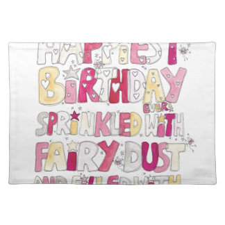 Happy Birthday Fairy Dust Placemat
