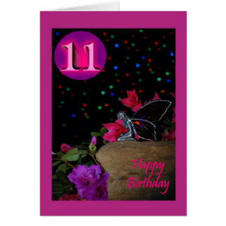 Happy Birthday fairy faerie 11 eleven 11th elevent Card