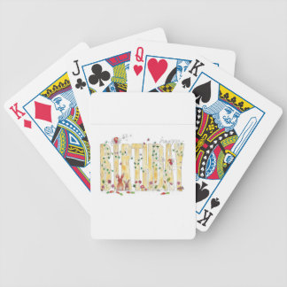 Happy Birthday -Fairy Woodland Bicycle Playing Cards