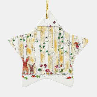 Happy Birthday -Fairy Woodland Ceramic Star Decoration