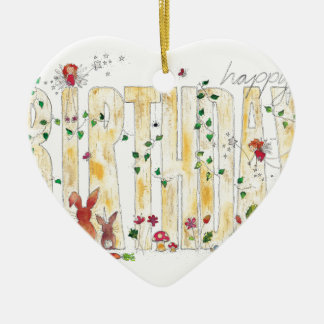 Happy Birthday -Fairy Woodland Christmas Ornament